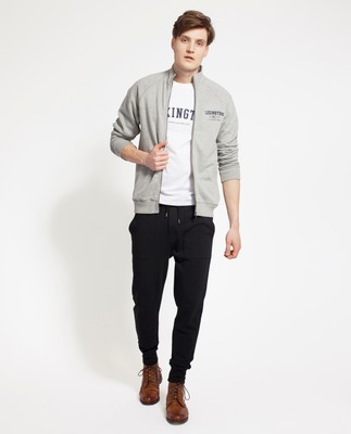 Christian Zip Cardigan, Heather Gray