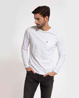 Trevor Long Sleeve Tee, Bright White