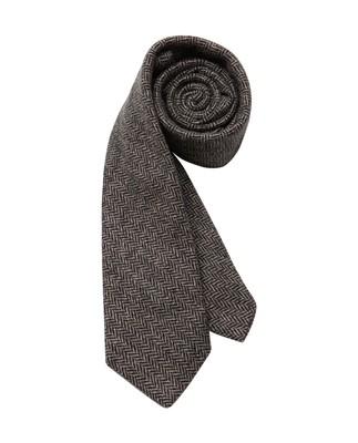 Glendale Wool Tie, Herringbone