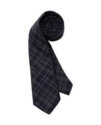 Glendale Wool Tie, Blue/Gray