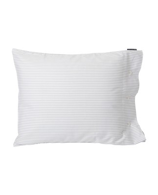 White/Light Gray Tencel Striped Pillowcase