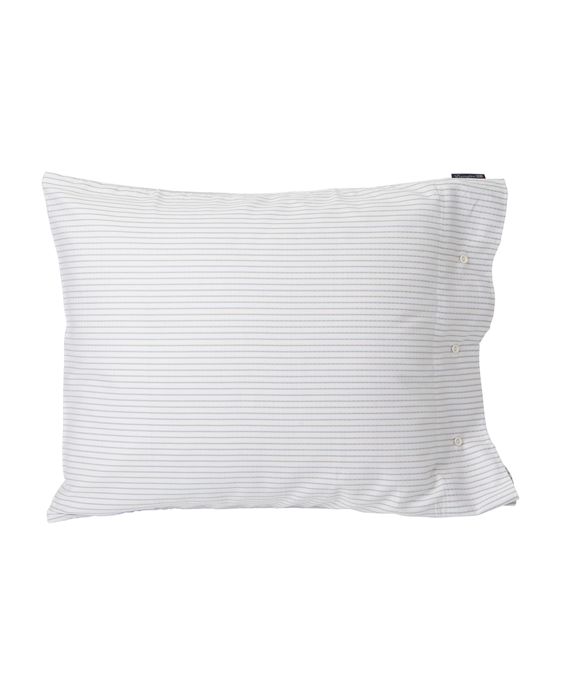 White/Light Gray Tencel Striped Pillowcase