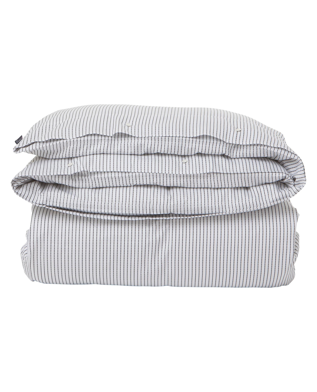 White/Black Tencel Stripe Duvet