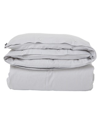 White/Black Tencel Striped Flat Sheet