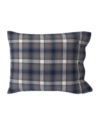 Checked Flannel Pillowcase, Blue Multi