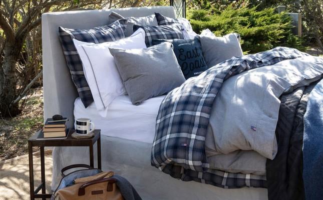 Checked Flannel Pillowcase, Blue Multi