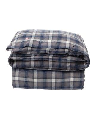 Checked Flannel Duvet, Blue Multi