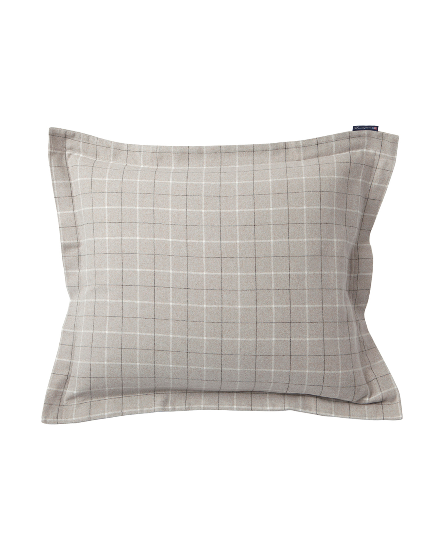 Cashmere Flannel Pillowcase, Gray