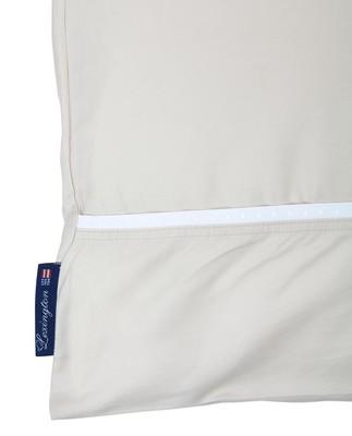 Beige/White Sateen Star Framed Flat Sheet