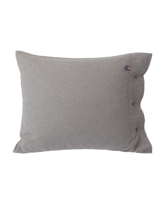 Herringbone Flannel Pillowcase, Gray