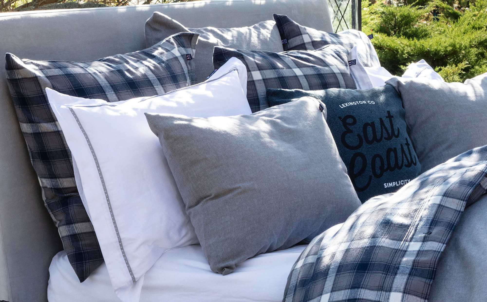 Herringbone Flannel Pillowcase, Gray