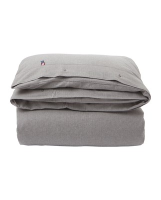 Herringbone Flannel Duvet, Gray
