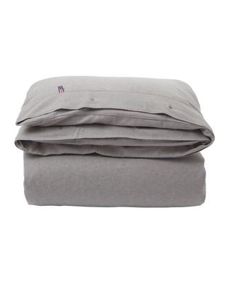 Herringbone Flannel Duvet, Gray