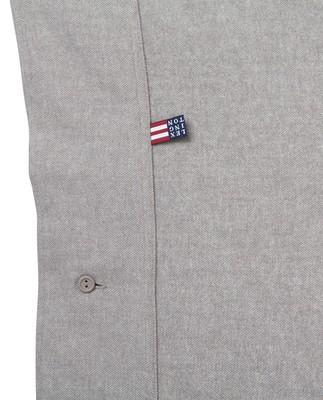 Herringbone Flannel Flat Sheet, Gray