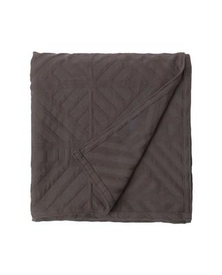 Solid Jacquard Bedspread, Dark Gray