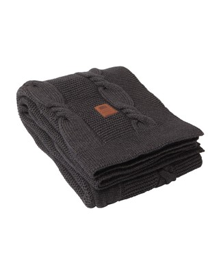 Knitted Throw, Gray