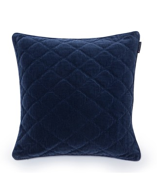 Quilt Velvet Sham, Blue