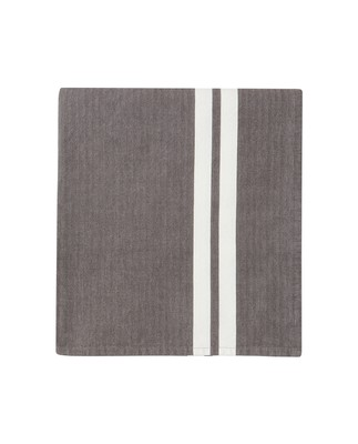 Striped Tablecloth, Gray/White