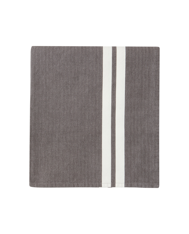 Striped Tablecloth, Gray/White
