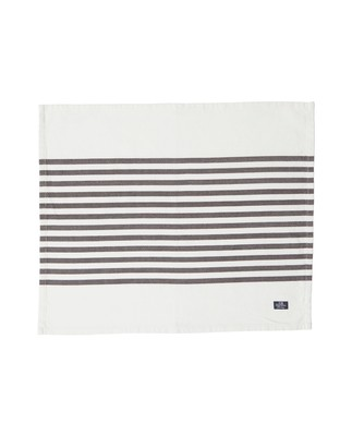 Striped Placemat, White/Gray