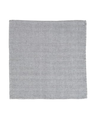 Herringbone Napkin, Gray/White