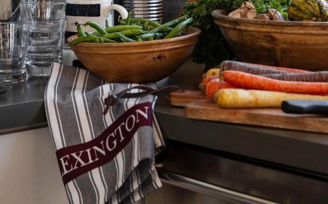 Lexington Striped Kitchen Towel, Gray Multi