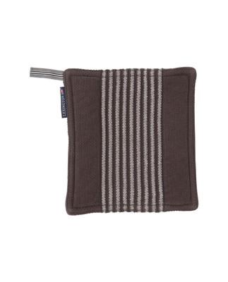 Striped Potholder, Gray