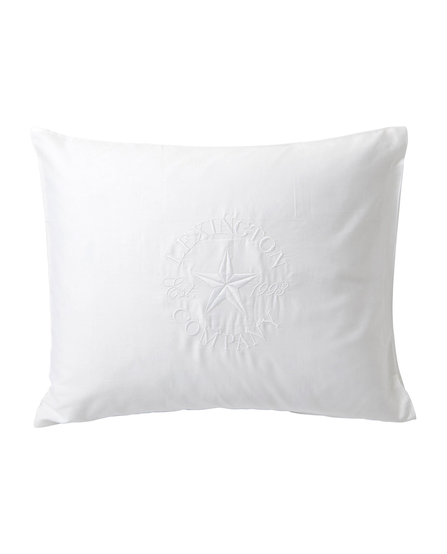 Lexington Embroidery Pillowcase, White